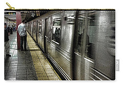Nyc Subway Carry-all Pouch by Martin Newman