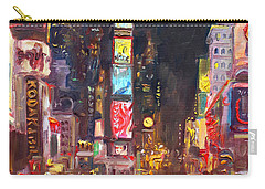 Nyc Times Square Carry-all Pouch by Ylli Haruni