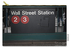 Nyc Wall Street Subway Entrance Carry-all Pouch