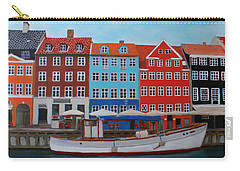 Carry-all Pouch featuring the painting Nyhavn Copenhagen by Deborah Boyd