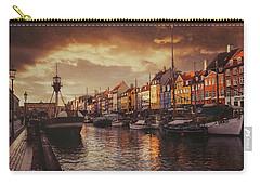 Nyhavn Sunset Copenhagen Carry-all Pouch by Carol Japp