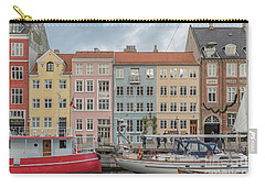 Carry-all Pouch featuring the photograph Nyhavn Waterfront In Copenhagen by Antony McAulay