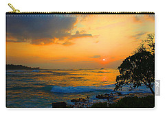 Carry-all Pouch featuring the photograph Oahu Sunset Hawaii by Michael Rucker