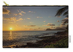 Carry-all Pouch featuring the photograph Oahu Sunset by RKAB Works