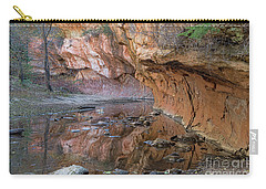 Carry-all Pouch featuring the photograph Oak Creek Reflections - Sedona, Az by Sandra Bronstein