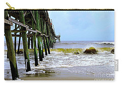 Oak Island Pier Before H.matthew Carry-all Pouch by Shelia Kempf