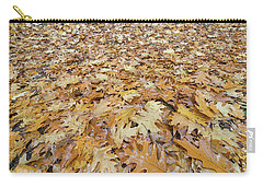Oak Leaves On The Ground In Autumn Carry-all Pouch