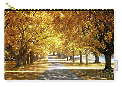 Oak Tree Avenue In Autumn Carry-all Pouch