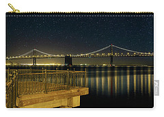 Oakland Bay Bridge By The Pier In San Francisco At Night Carry-all Pouch