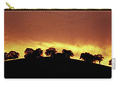 Carry-all Pouch featuring the photograph Oaks On Hill At Sunset by Jim and Emily Bush