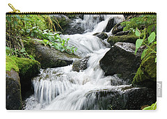 Carry-all Pouch featuring the photograph Oasis Cascade by David Chandler
