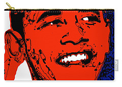 Carry-all Pouch featuring the digital art Obama Hope by Rabi Khan