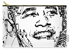 Carry-all Pouch featuring the digital art Obama by Rabi Khan