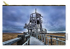 Carry-all Pouch featuring the photograph Observation Tower - Great Salt Lake Shorelands Preserve by Gary Whitton