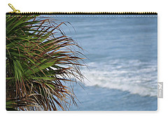 Ocean And Palm Leaves Carry-all Pouch