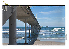 Ocean Beach Pier Stairs Carry-all Pouch by Ana V Ramirez