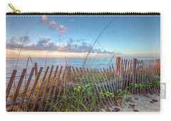 Carry-all Pouch featuring the photograph Ocean Blues by Debra and Dave Vanderlaan