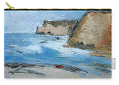 Carry-all Pouch featuring the painting Ocean Cliffs by Gary Coleman