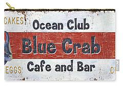 Ocean Club Cafe Carry-all Pouch by Debbie DeWitt