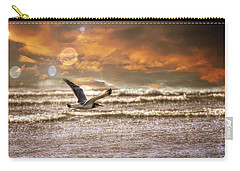 Carry-all Pouch featuring the photograph Ocean Flight by Aaron Berg