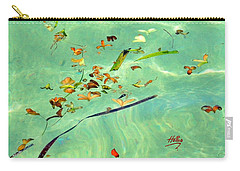 Ocean Flowers Carry-all Pouch by Linda Hollis
