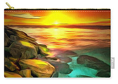 Ocean Lit In Ambiance Carry-all Pouch