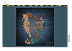 Carry-all Pouch featuring the digital art Ocean Lullaby1 by Megan Dirsa-DuBois