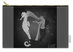 Carry-all Pouch featuring the digital art Ocean Lullaby2 by Megan Dirsa-DuBois