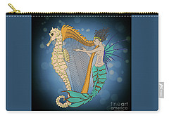 Carry-all Pouch featuring the digital art Ocean Lullaby3 by Megan Dirsa-DuBois