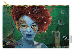 Carry-all Pouch featuring the digital art Ocean by Nola Lee Kelsey