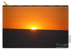 Carry-all Pouch featuring the photograph Ocean Sunset by Frank Stallone