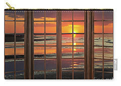 Ocean Sunset Window Carry-all Pouch
