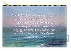 Ocean Symphony With Bible Verse Carry-all Pouch