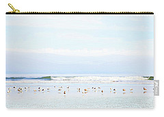Ocean View With Seagulls Carry-all Pouch by Theresa Tahara