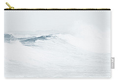 Carry-all Pouch featuring the photograph Ocean Wave. Series Ethereal Blue by Jenny Rainbow