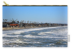 Carry-all Pouch featuring the photograph Oceanside by AJ Schibig