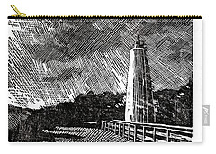 Carry-all Pouch featuring the painting Ocracoke Island Lighthouse II by Ryan Fox