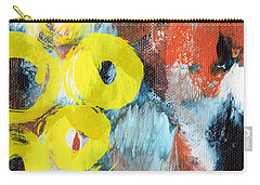 October- Abstract Art By Linda Woods Carry-all Pouch