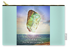 October Birthstone Opal Carry-all Pouch