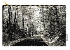 Carry-all Pouch featuring the photograph October Grayscale  by Kendall McKernon