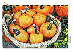 Carry-all Pouch featuring the photograph October Pumpkins by Joan Reese