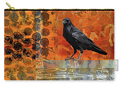 Carry-all Pouch featuring the painting October Raven by Nancy Merkle
