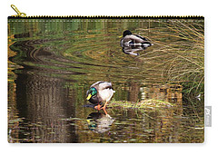 Carry-all Pouch featuring the photograph October Sun Moment by I'ina Van Lawick