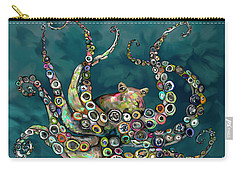 Octopus Colorful Carry-all Pouch by Tim Gilliland