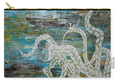 Octopus Of The Deep Carry-all Pouch by Tamyra Crossley