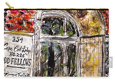 Carry-all Pouch featuring the painting Odd Fellows, Cape Cod by Monique Faella