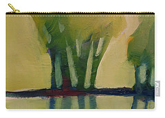 Carry-all Pouch featuring the painting Odd Little Trees by Michelle Abrams