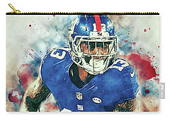 Carry-all Pouch featuring the digital art Odell Beckham Jr. by Taylan Apukovska