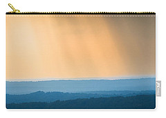 Carry-all Pouch featuring the photograph Of Blue And Gold by Parker Cunningham