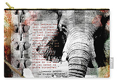 Carry-all Pouch featuring the digital art Of Elephants And Men by Nola Lee Kelsey
